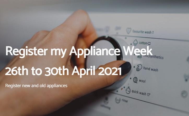 Register my Appliance Week